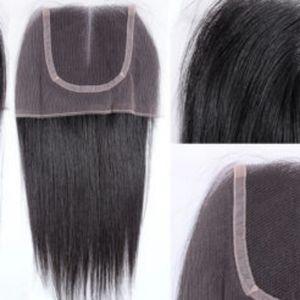 "Closure 100% human hair VIRGIN REMY luxury 14"""